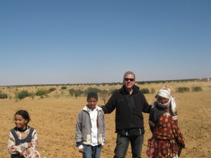 Tunisian olive groves harvesting with local Bedouin family