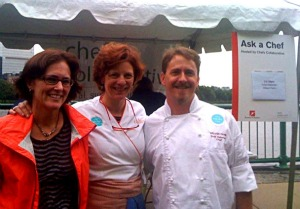 Executive Director Melissa Kogut with Chefs Jodi Adams and Todd Haberlein