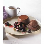 Cocoa Panna Cotta with Blackberries, Cherries, and Cocoa Clove Cookies from Chef Derek Wagner
