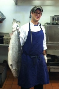 Chef Brendan Pelley & tonights salmon