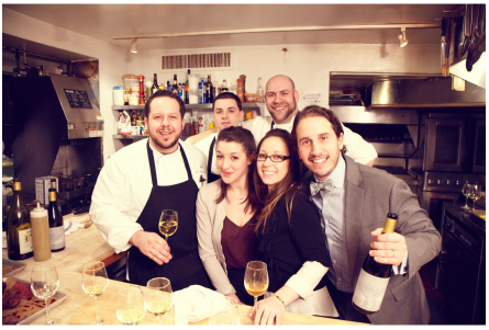 Stephen Mancini (bottom right) and the team at Restaurant North. Photo: Restaurant North.